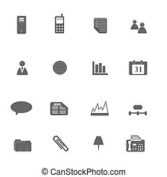 Business Icon Set Silhouette