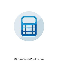 Business icon. Vector illustration isolated on white background. Calculator symbol.