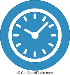 Business icon. Vector illustration isolated on white background. Clock symbol.