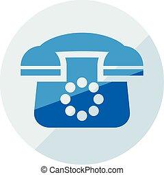 Business icon. Vector illustration isolated on white background. Phone symbol.