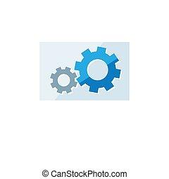 Business icon. Vector illustration isolated on white background. Setting symbol.