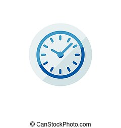 Business icon. Vector illustration isolated on white background. Time symbol.
