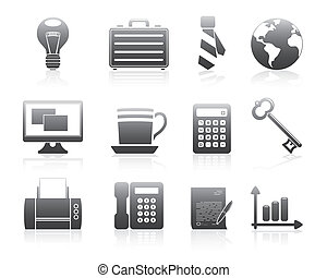 Business Icons 2 Silhouette Series