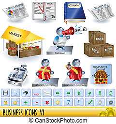 Business Icons 6 - Set of business icons, along with ...