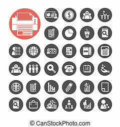 Business icons and Finance Icons set .Illustration eps10