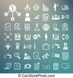 Business icons and Finance icons set.2  on Retina background