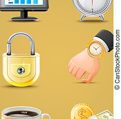 Business icons big set vector illustration
