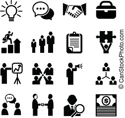 Business Icons - Set of business icons isolated on a white...