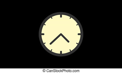 Business icons clock. Animation icons. Transparent background. Loop animation. Motion graphics