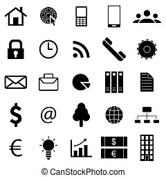 Business icons. Flat style finance