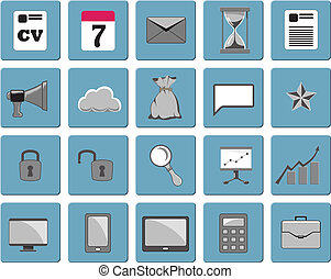 Business icons, set 1