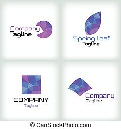 Business icons set. Logo design.
