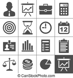 Business icons set - Simplus series - Business Icons. Vector...