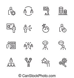 Business Icons Set, Team building