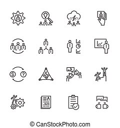Business Icons Set, Team building