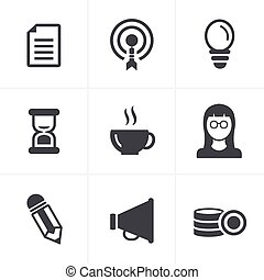 Business Icons Set, Vector Design