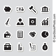 Business icons stikers