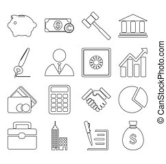 Business icons stroke