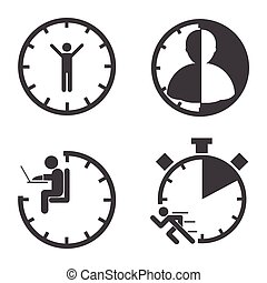 Business icons. Time management