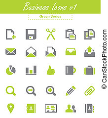 Business Icons v1 - Green Series