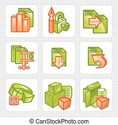 Business icons - vector set.