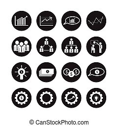 Business icons, vector set