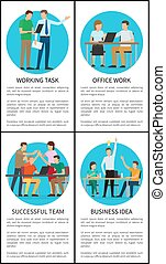 Business Idea and Working Task Vector Illustration