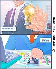 Business Idea Concept Illustration Analyze Vector