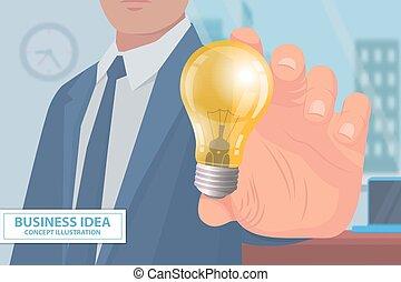Business Idea Concept Illustration Poster Vector