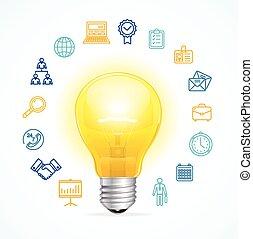 Business Idea Concept. Vector