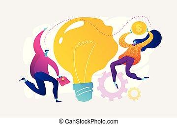 Business idea concept vector illustration.