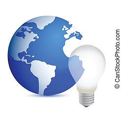 business idea concept world globe