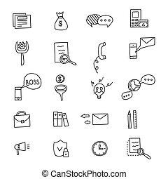 Business Idea doodles icons set. Vector illustration