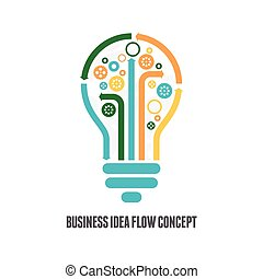 Vector illustration of business idea flow concept.