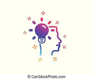 Business Idea icon. Light bulb sign. Vector