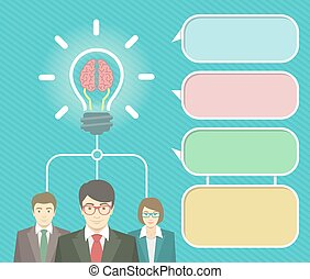 Business Idea Infographics Elements