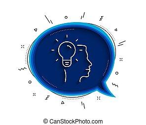 Business Idea line icon. Light bulb sign. Vector