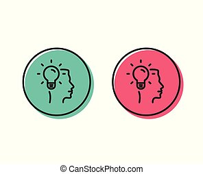 Business Idea line icon. Light bulb sign. Vector