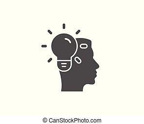 Business Idea simple icon. Light bulb sign.