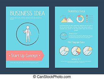 Business Idea Startup Concept Vector Illustration