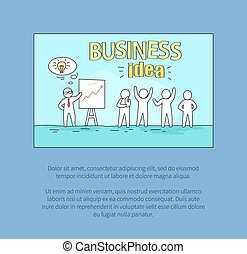 Business Idea with Text on Vector Illustration