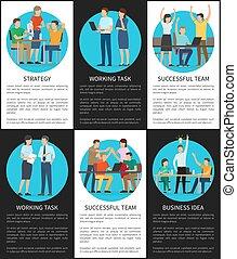 Business Idea Working Task Vector Illustration