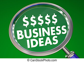 Business Ideas Earn Money Income Original Product Magnifying Glass 3d Illustration