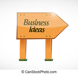 business ideas wood sign concept