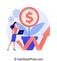 business, illustration., soutenable, vecteur, concept, résumé