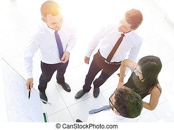 business, image, ideas., fond, équipe, nouveau, discuter