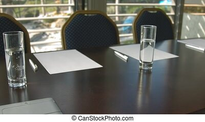 business, important, briefing, salle, vide, avant