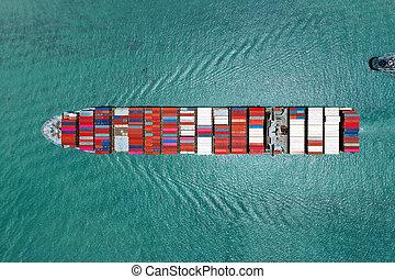 business, importation, navire porte-conteneurs, exportation