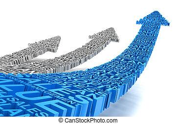 Business improvement arrows