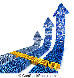 Business improvement concept, 3d render